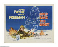 "Hold Back the Night (Allied Artists, 1956). Half Sheet (22"" X 28""). John Payne is a platoon leader in Korea wi..."