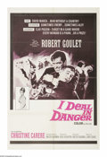 "Movie Posters:War, I Deal In Danger (20th Century Fox, 1966). One Sheet (27"" X 41"").Robert Goulet plays a double agent spying for the American..."