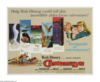 "In Search of the Castaways (Buena Vista, 1962). Half Sheet (22"" X 28""). Mary and Robert Grant (Hayley Mills an..."