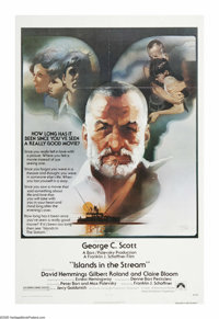 """Islands in the Stream (Paramount, 1977). One Sheet (27"""" X 41""""). No, this is not the life story of Dolly Parton..."""