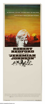 "Jeremiah Johnson (Warner Brothers, 1972). Insert (14"" X 36""). ""Keep your nose in the wind, and your eyes..."