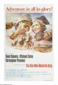 "The Man Who Would Be King (Columbia, 1975). One Sheet (27"" X 41""). ""He wants to know if you are gods. --..."