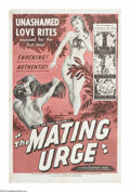 """Movie Posters:Miscellaneous, The Mating Urge (Citation Films, 1959). One Sheet (27"""" X 41""""). Well folks, it isn't real hard to figure out what they were t..."""