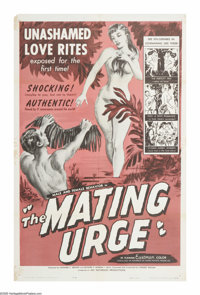 """The Mating Urge (Citation Films, 1959). One Sheet (27"""" X 41""""). Well folks, it isn't real hard to figure out wh..."""