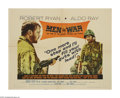 "Movie Posters:War, Men in War (United Artists, 1957). Half Sheet (22"" X 28"").Lieutenant Benson (Robert Ryan) and Sergeant Montana (Aldo Ray)a..."