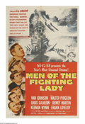 "Movie Posters:War, Men of the Fighting Lady (MGM, 1954). One Sheet (27"" X 41""). Basedpartly on a book by James Michener (who is played in the ..."