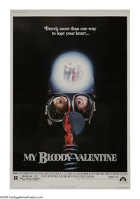 """My Bloody Valentine (Paramount, 1981). Poster (40"""" X 60""""). The mining town of Valentine's Bluff is holding a d..."""