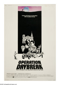 "Operation Daybreak (Warner Brothers, 1975). Poster (40"" X 60""). During WWII, two Czech assassins are parachute..."
