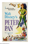 "Movie Posters:Animated, Peter Pan (Buena Vista, R-1976). Poster (40"" X 60""). Walt Disney's classic cartoon based on the James Barrie children's stor..."