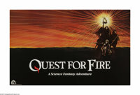 "Quest for Fire (20th Century Fox, 1982). Poster (25"" X 40""). The dawn of man. Three members of the Ulam tribe..."