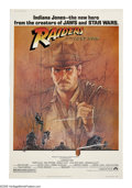"""Movie Posters:Adventure, Raiders of the Lost Ark (Paramount, 1981). Poster (40"""" X 60"""").""""Professor of archeology, expert on the occult, and how does ..."""