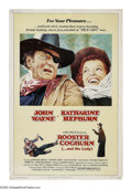 "Movie Posters:Western, Rooster Cogburn (Universal, 1975). Poster (40"" X 60""). John Wayne is back as Marshal Rooster Cogburn, the role that won him ..."