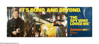 "The Spy Who Loved Me (United Artists, 1976). Banner (21"" X 59""). When both a British and a Russian submarine d..."
