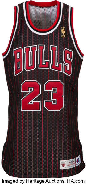 factory authentic b4eaa 0f06f 1996-97 Michael Jordan Pro Cut Chicago Bulls Jersey ...