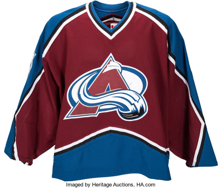 pretty nice d64f0 3837f 2002 Patrick Roy Game Worn Colorado Avalanche Jersey - Photo ...