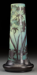 Art Glass, Galle Overlay Glass Paper Whites Vase. Circa 1900. CameoGalle. Ht. 12-7/8 in.. ...
