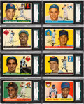 Baseball Cards:Sets, 1955 Topps Baseball Near Complete Set (174/206). ...