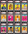 Basketball Cards:Lots, Signed 1971-72 Topps Basketball Collection (79). ...
