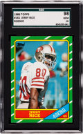 Football Cards:Singles (1970-Now), 1986 Topps Jerry Rice #161 SGC 98 Gem 10 - The Ultimate SGCExample! ...