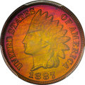 Proof Indian Cents, 1887 1C PR66 Red and Brown PCGS. CAC....