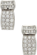 Estate Jewelry:Earrings, Diamond, White Gold Earrings The earrings feat...