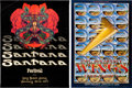 Music Memorabilia:Posters, Santana Long Beach Arena Concert Poster and Wings Cow PalaceConcert Poster Printer's Proof (1977).... (Total: 2 Items)