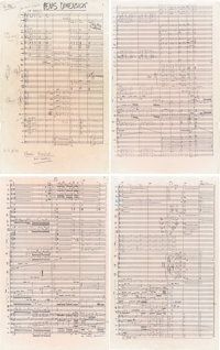 "Frank Zappa Annotated Concert Score For ""Penis Dimension"" From The Movie 200 Motels (1971).<"
