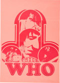 Music Memorabilia:Posters, The Who Promotional Poster (Polydor, 1970). Rare....