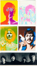 Music Memorabilia:Posters, Beatles - Full Set of Richard Avedon Psychedelic Posters With Black& White Streamer Poster (1968)....