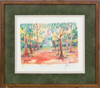 """Jerry Garcia Signed Limited Edition Print """"California Mission"""" (Circa 1990s)"""