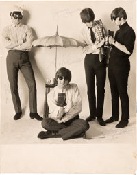 Beatles - Extraordinary and Remarkably Large Autographed Photograph From the Beatles '65 Alb