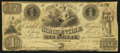 Obsoletes By State:Ohio, Circleville, OH- Bank of Circleville $1 Sep. 1, 1854. ...