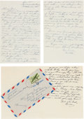 Movie/TV Memorabilia:Autographs and Signed Items, A James Cagney Pair of Letters Received from Audie Murphy, 1945....