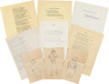 Movie/TV Memorabilia:Documents, A James Cagney Collection of Poems and Musings, Circa1940s-1950s....