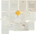 Movie/TV Memorabilia:Autographs and Signed Items, A James Cagney Massive Collection of Handwritten Correspondence toHis Secretary Plus Other Initialed Documents, 1940s-1960s....