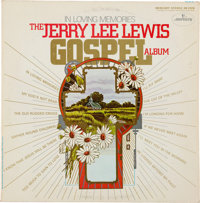 """Elvis Presley Owned """"In Loving Memories"""" LP Signed And Dedicated To Him By Jerry Lee Lewis (Mercury Records, 1..."""