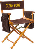 Movie/TV Memorabilia:Memorabilia, A Glenn Ford Director's Chair, Circa 1950s....
