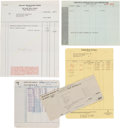 Movie/TV Memorabilia:Documents, A Marilyn Monroe Group of Business Documents, 1950s....