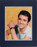 Music Memorabilia:Autographs and Signed Items, Elvis Presley Autographed Magazine Page....
