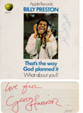 Music Memorabilia:Autographs and Signed Items, George Harrison - Two George Harrison Autographs (Circa1971-1973)....