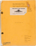 "Movie/TV Memorabilia:Documents, A James Cagney Annotated Script from ""Love Me or Leave Me.""..."