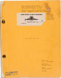 """A James Cagney Annotated Script from """"Love Me or Leave Me."""""""