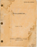 """Movie/TV Memorabilia:Documents, A James Cagney 'File Copy' Script from """"Man of a Thousand Faces.""""..."""