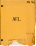 "Movie/TV Memorabilia:Documents, A James Cagney 'File Copy' Script from ""White Heat.""..."