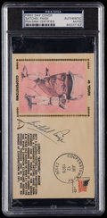 Autographs:Others, Satchel Paige and Bob Feller Multi Signed First Day Cover. ...