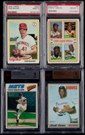 Baseball Cards:Lots, 1970's Hank Aaron & Tom Seaver Graded Card Collection (4). ...