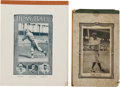 Baseball Collectibles:Publications, 1918-25 Babe Ruth Notebook Lot of 2.... (Total: 2 item)