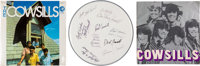 Cowsills Signed Drum Head, Concert Program, and Sealed Stereo LP