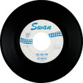 "Music Memorabilia:Recordings, Beatles ""She Loves You / I'll Get You"" 45 with ""Don't Drop Out"" onLabel (Swan S-4152, 1963)...."