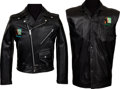 Music Memorabilia:Memorabilia, Genesis Invisible Touch Leather Crew Jacket and Vest (Circa1986-87).... (Total: 2 Items)